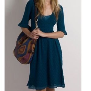 Knitted & Knotted Pointelle Knit Dress